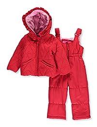 "Weatherproof Baby Girls' ""Stitched Hearts"" 2-Piece Snowsuit"