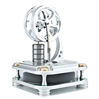 DjuiinoStar Low Temperature Stirling Engine (Solid Metal Construction): A Funny Coffee Timer