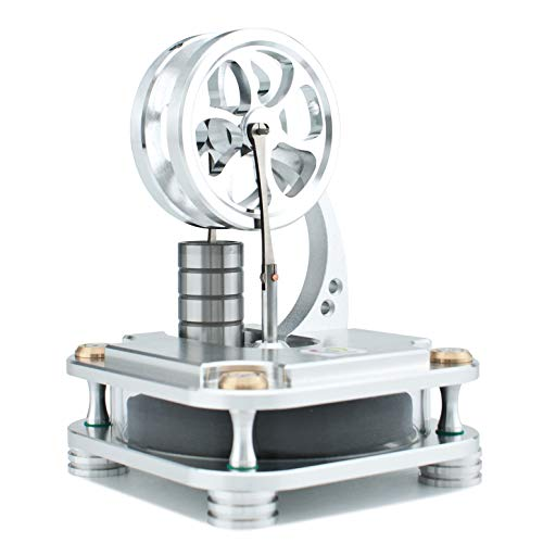 DjuiinoStar Low Temperature Stirling Engine (Solid Metal Construction): A Funny Coffee Timer ()