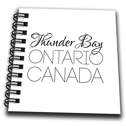 3dRose Alexis Design - Canadian Cities - Thunder Bay Ontario, Canada. Chic, Unique Patriotic Home Town Gift - Mini Notepad 4 x 4 inch (db_304853_3)
