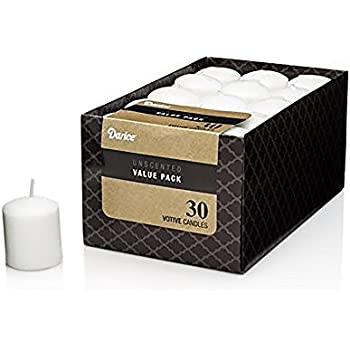 "Dynamic Collections Unscented 12 Hour Votive Candles, 1.4"" x 1.8"" (30/Pkg) - White"