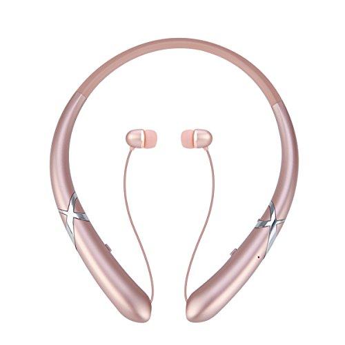 Bluetooth Headphones Wireless Earbuds Retractable Headset Neckband Earphones Sport Stereo Waterproof Noise...