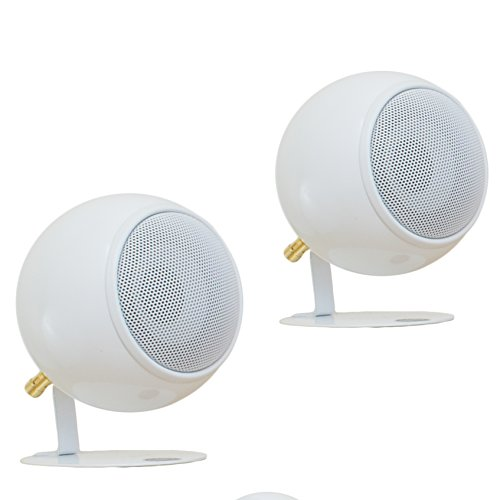 Orb Audio Mod1 Round Stereo & TV Speakers - Pearl White by Orb Audio