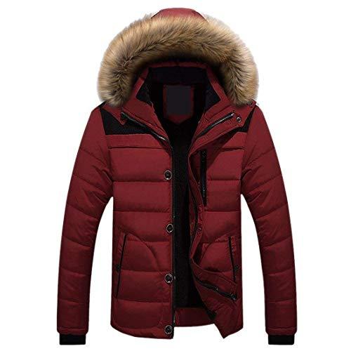 Laisla fashion Men's Nener Outdoor Winderproof Jacket Hooded Winter Thicken Men's Ntel Down Clásico Coat Overcoat Outerwear Boy Rot