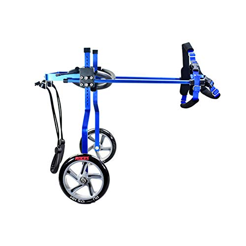 PLDDY Pet Wheelchairs, Moped,Dog Scooters,Aluminum Alloy Ultra-Lightweight Disabled and Paralyzed Dog Cat Auxiliary Dind Legs,Leg Exercises (Color : Blue, Size : XXS)