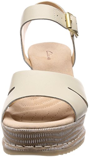 Lea WoMen White Sandals Ankle Akilah White Combi Eden Clarks Strap qxdzFqw