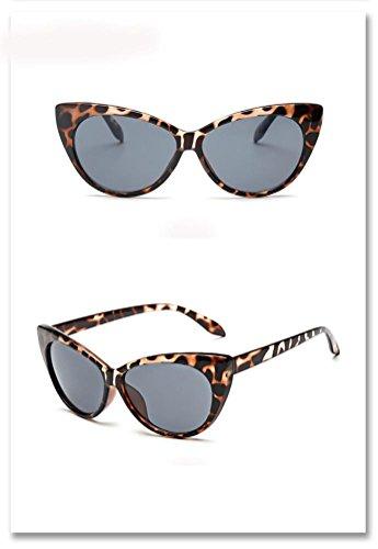 de Oeil Unisex de Été Femmes Hommes Glasses chat lunettes Gris Reaso soleil pAXFTpqz