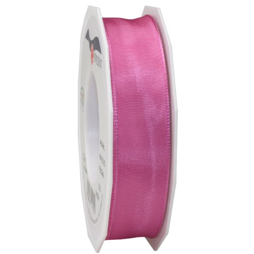 Morex Ribbon French Wired Lyon Ribbon, 1-Inch by 27-Yard Spool, Pink