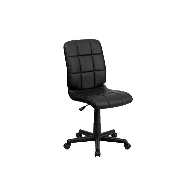 Flash Furniture Mid-Back Black Quilted V