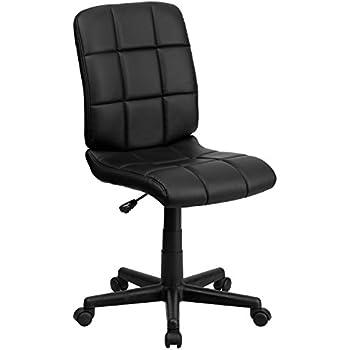 amazon com flash furniture mid back black mesh swivel task chair