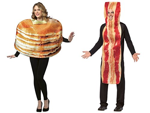Get Real Stacked Pancakes Bacon - Foodie Couples Costumes for $<!--$75.99-->