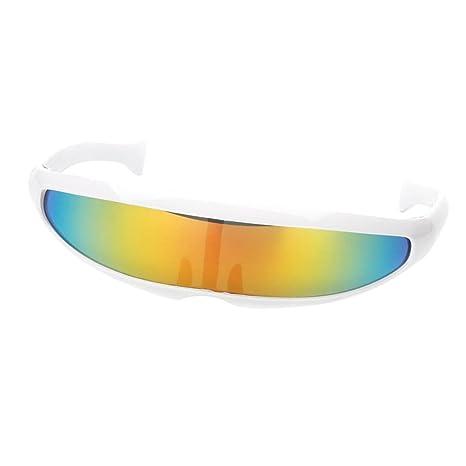 D DOLITY Gafas de Sol Cyclops Futurista Antiparras Estampada ...