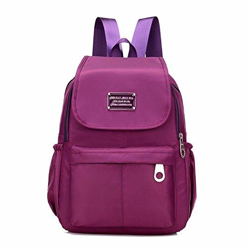 MSZYZ Bolso de Hombro de Lona de Mujeres 2018 Bolsa de Viaje Mochila de Nylon Divertido Ocio,Azul Deep purple