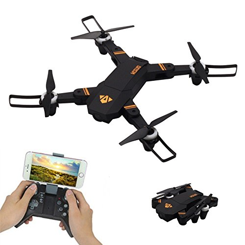 RC Drone Quadcopter ,Fineser RC Foldable Waypoint fly FPV Wi-Fi RC Quadcopter 2.4 GHz 4CH Remote Control Drone with 480P HD Camera by Fineser Drone