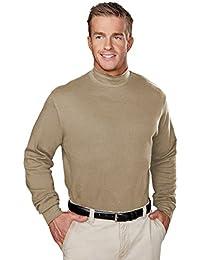 Men's 100% Cotton Interlock Mock Turtleneck Shirt (8 Color, XS-6XL)