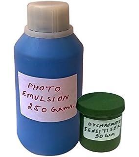 1855aceb8 designers den Photo Emulsion 250 ml+sensitiser(Dichromate Salt) 50 Gram- for