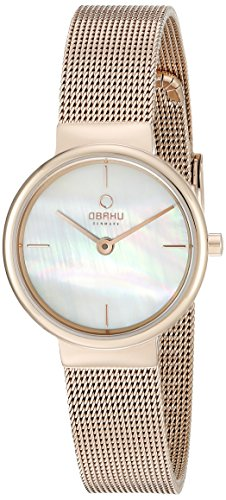 Obaku Women's V153LXVWMV Analog Display Analog Quartz Brown Watch
