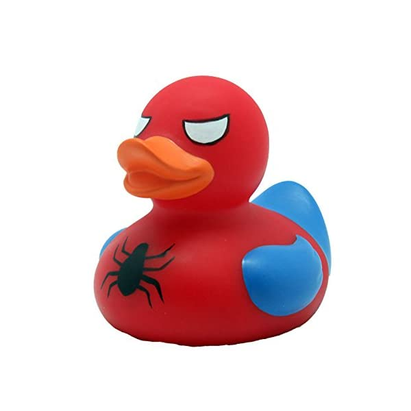 Lilalu 8 x 8 cm50 g Collector and Baby Spidy Rubber Duck Bath Toy