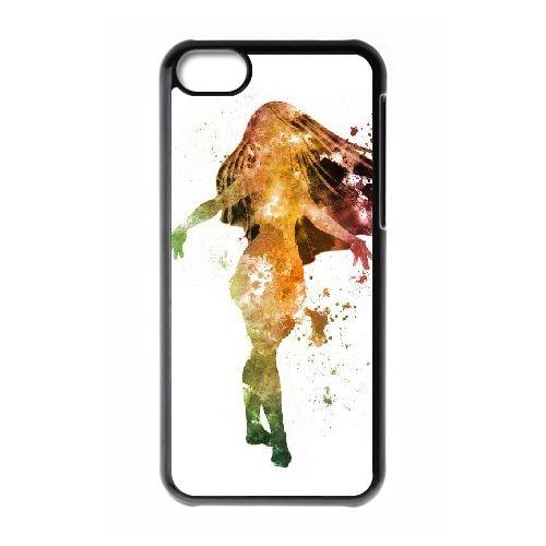 Pocahontas 001 coque iPhone 5C Housse téléphone Noir de couverture de cas coque EEEXLKNBC18052