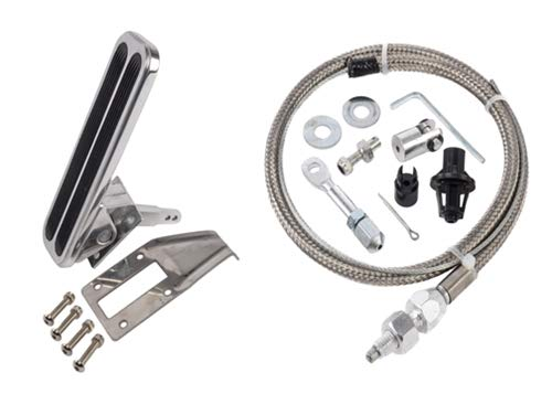Gas Pedal Kit - JEGS 157416K2 Gas Pedal Assembly Kit Universal- Floor Mount