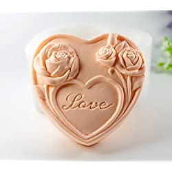 Longzang Love Rose Mould Craft Art Silicone Soap M