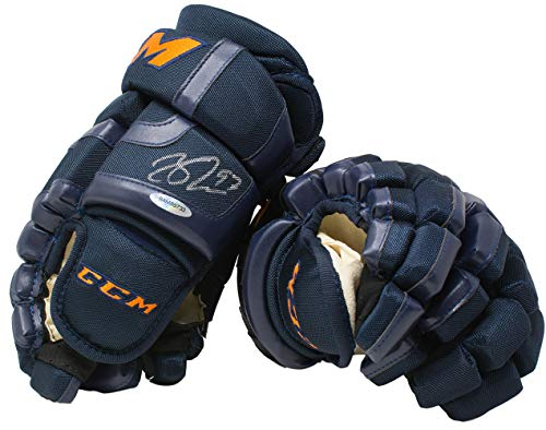 Connor McDavid Signed Pair of CCM Hockey Glove Edmonton Oilers UDA - Upper Deck Certified