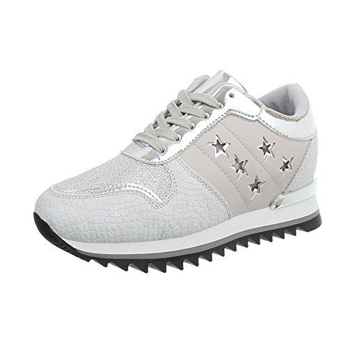High Clair Gris Sneaker Ital Zeppa Da G Donna Scarpe design 127 Sneakers q6nTAf