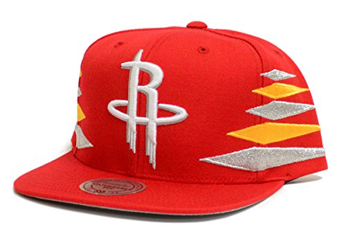 Houston Rockets Mitchell & Ness Diamond Red Snapback Hat