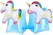 HeySplash Inflatable Armbands for Kids (Aged 3-6), Pool Arm Floatie Sleeves Floater Tube Water Wings Swimming