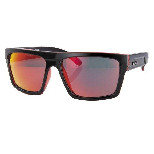 Carve pour homme Volley Lunettes de soleil Black (Black/ Clear Red Revo)