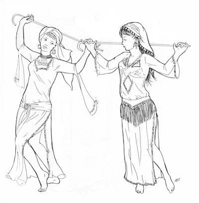 Elena (Medieval Belly Dance Costume)