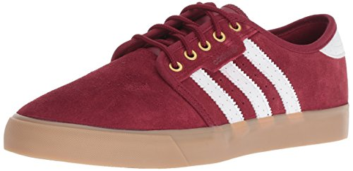 adidas Originals Men's Seeley Running Shoe, Collegiate Burgundy/White/Gold Metallic, 8 M US