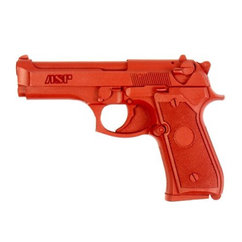 ASP Beretta 9mm/.40 Compact Red Gun Replica for Training and Practice with Martial Arts, Defense, Props, Tactical, Law Enforcement, Military 07315