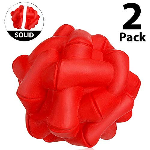 WINGPET Durable-Dog-Balls-Chew-Toys, Natural Rubber Bounce Balls, Great for Outdoors Training or Fetch Game, 2.4 Inch…