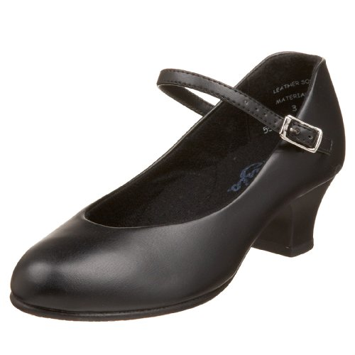 Capezio Jr. Footlight 550X Character Shoe (Little Kid/Big Kid),Black,3.5 M US Big Kid