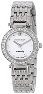 Rudiger Women's R2500-04-009 Essen Round Stainless Steel Diamond Accent Watch