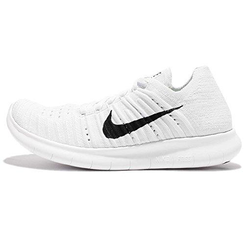 Scarpe Da Corsa Nike Womens Free Running Motion, Platino Bianco / Nero-puro - 5 B (m) Us