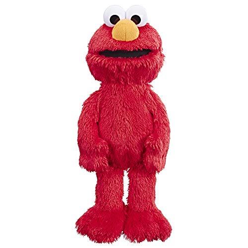 "41 s5Qg1BCL - Sesame Street Love to Hug Elmo Talking, Singing, Hugging 14"" Plush Toy for Toddlers, Kids 18 Months & Up"