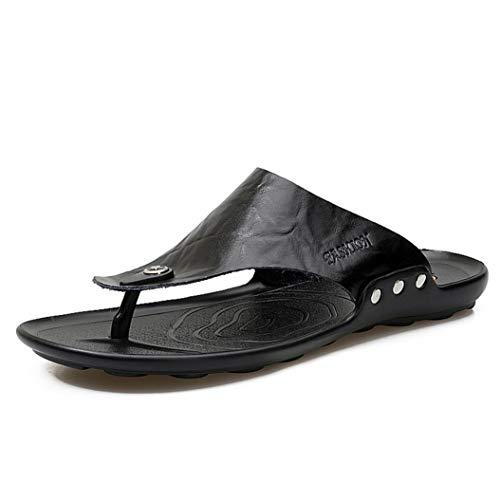 - FORUU Slippers Men Home Classic Footwear Casual Slides Beach Shoes Men Flip Flops Black