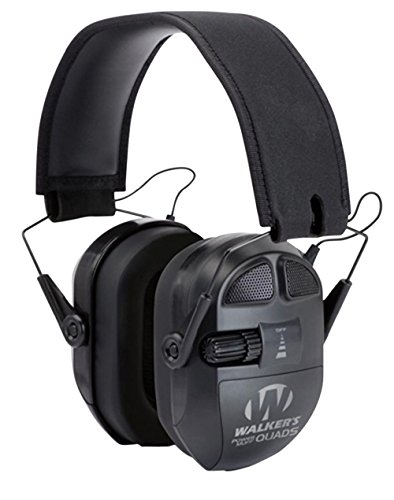 Game Ear Ultimate Series Power Muff Quads Black Earmuff (27dB) by Quad Ultimate Series