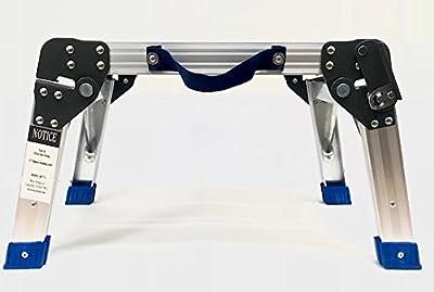 MaxWorks 80773 Foldable Aluminum Platform & Step Stool (350 lbs. Maximum Capacity)