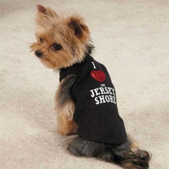 Casual Canine Jersey Shore Dog Tank, Medium, Black, My Pet Supplies