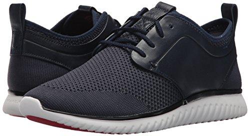 Cole Haan Men's Grand Motion Knit Sneaker, Marine Blue/Black/Optic White, 12 Medium US