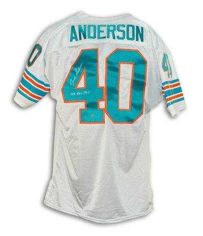 - Dick Anderson Miami Dolphins White Throwback Jersey Inscribed