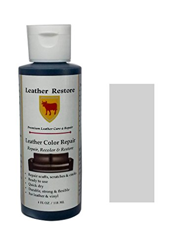 Off Leather Footwear (Leather Restore Leather Color Repair, WHITE, 4 OZ Bottle - Repair, Recolor & Restore Leather & Vinyl Couch, Furniture, Auto Interior, Couch, Car Seats,)