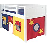 Twin Playhouse Curtain Color: Blue, Red & Hot Yellow, Additional Side Panel: No