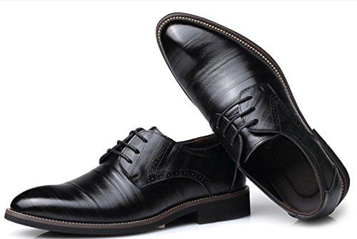 Pattini di cuoio degli uomini di CSDM Scarpe da sposa casual di punta delle scarpe da sposa di punta di formato , black , 40