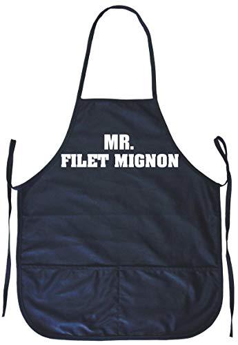 99 Volts Mr Filet Mignon Cooking Apron Pockets