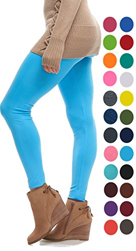 - 41 s74CrR 2BL - LMB | Seamless Full Length Leggings | Variety Colors | One Size