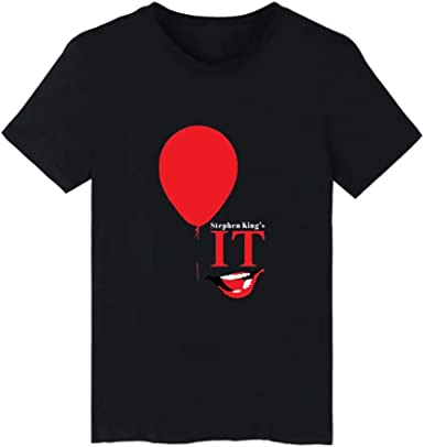 LL-haide Nueva Camiseta gráfica Película de Terror Camiseta de la Novedad IT Clown Camiseta para Hombre Clown Scary Face Graphic Camiseta para Hombre: Amazon.es: Ropa y accesorios